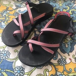 Chaco sandals pink and purple size 10